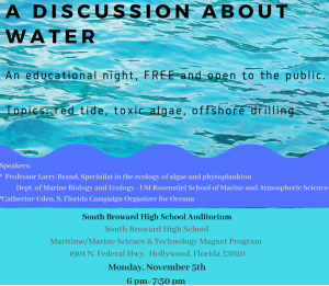 Water discussion night
