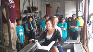 Marine Srevice students giving jet ski lessons to New River Middle marine magnet students.