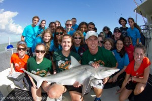 Reefdogs helping RJ Dunlap Marine Conservation Program tag sharks