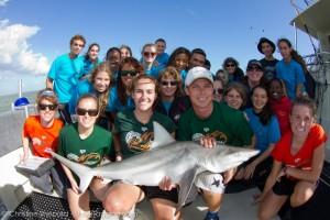 Reefdogs helping RJ Dunlap Marine Conservation Program tag sharks